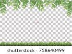 framing of green leaves and... | Shutterstock .eps vector #758640499