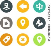 origami corner style icon set   ... | Shutterstock .eps vector #758641660
