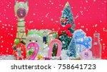 christmas gifts and happiness   Shutterstock . vector #758641723