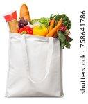 groceries  bag  grocery... | Shutterstock . vector #758641786