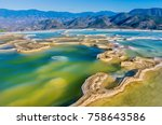 hierve el agua  thermal spring... | Shutterstock . vector #758643586
