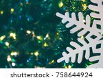 christmas trees are decorated...   Shutterstock . vector #758644924