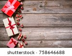 merry christmas. decoration for ... | Shutterstock . vector #758646688