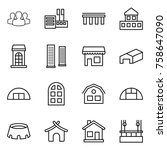 thin line icon set   group ... | Shutterstock .eps vector #758647090