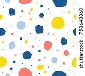 abstract handmade round... | Shutterstock .eps vector #758648860