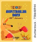 australia day 26th january  | Shutterstock .eps vector #758648944