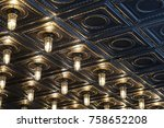lights in a ceiling | Shutterstock . vector #758652208