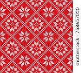 traditional scandinavian... | Shutterstock .eps vector #758657050