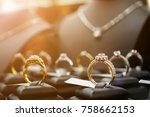 jewelry diamond rings and... | Shutterstock . vector #758662153