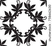 black and white seamless ...   Shutterstock .eps vector #758662630