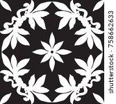 black and white seamless ...   Shutterstock .eps vector #758662633