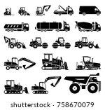 set of various transportation... | Shutterstock .eps vector #758670079