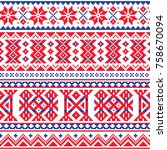 lapland  sami people vector... | Shutterstock .eps vector #758670094
