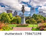 george washington monument at... | Shutterstock . vector #758671198