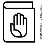 handbook vector icon | Shutterstock .eps vector #758673013