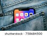 paris  france   nov 10  2017 ...   Shutterstock . vector #758684500