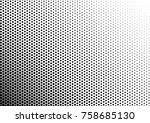 halftone background. black and... | Shutterstock .eps vector #758685130