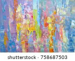 highly textured colorful... | Shutterstock . vector #758687503
