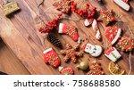 christmas ginger cookies   Shutterstock . vector #758688580