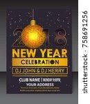 new year flyer   Shutterstock .eps vector #758691256