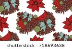 christmas vector seamless...   Shutterstock .eps vector #758693638