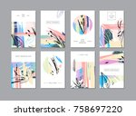set of creative universal... | Shutterstock . vector #758697220