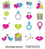 love icons | Shutterstock .eps vector #75870253