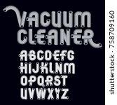 set of cool vector upper case... | Shutterstock .eps vector #758709160
