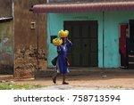 kampala  uganda   aug 26  2010  ... | Shutterstock . vector #758713594