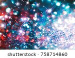 abstract red twinkled ... | Shutterstock . vector #758714860
