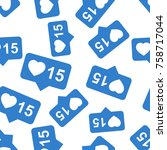 like  comment  follower... | Shutterstock .eps vector #758717044