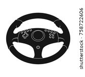 game steering wheel single icon ... | Shutterstock .eps vector #758722606