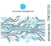 vector abstract technology... | Shutterstock .eps vector #758722723