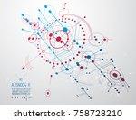mechanical engineering... | Shutterstock .eps vector #758728210