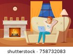 designer artist composition...   Shutterstock .eps vector #758732083