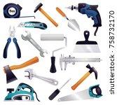 building construction...   Shutterstock .eps vector #758732170