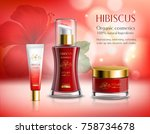 cosmetics series hibiscus with... | Shutterstock .eps vector #758734678