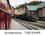 steam locomotive of georgetown... | Shutterstock . vector #758745499
