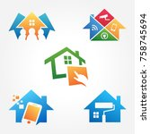 home automation concept symbol | Shutterstock .eps vector #758745694