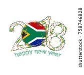 2018 happy new year south... | Shutterstock .eps vector #758746828
