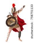 ancient warrior or gladiator... | Shutterstock . vector #758751133