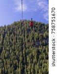 Small photo of Red Cable Car, Estes Park Aerial Tramway, Colorado, USA