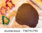 making christmas gingerbread... | Shutterstock . vector #758751790