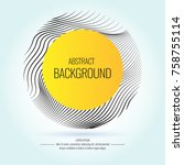 vector abstract background with ... | Shutterstock .eps vector #758755114