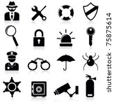 security icons | Shutterstock .eps vector #75875614