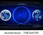 abstract vector technology ... | Shutterstock .eps vector #758764750