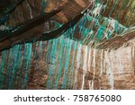 abstract texture of the... | Shutterstock . vector #758765080