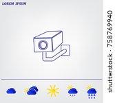 video surveillance camera...   Shutterstock .eps vector #758769940