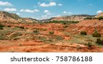 Panoramic View Red Rolling Terrain - Fine Art prints