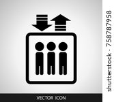 icon elevator on a gray... | Shutterstock .eps vector #758787958